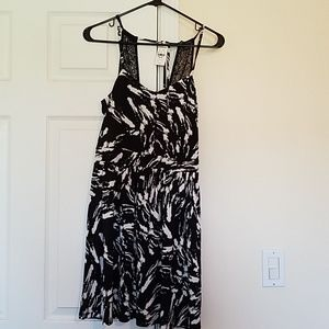 Black and white Express dress.